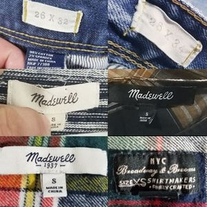Madewell Mystery Tag Box Sizes XS, S jeans 26